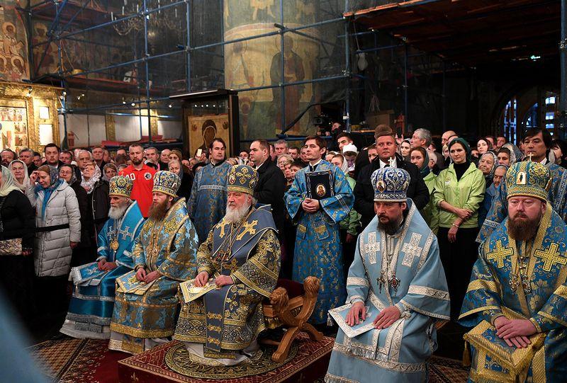 Праздник Введения во храм Пресвятой Богородицы в Успенском соборе Московского Кремля