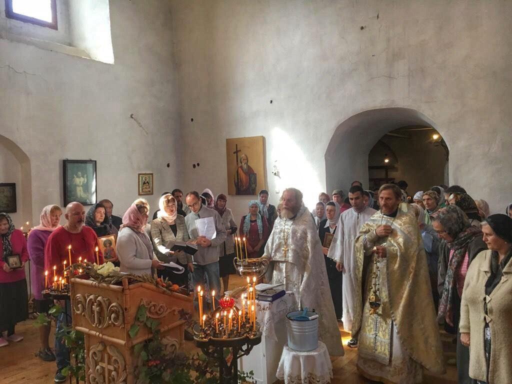 Престольный праздник в Церкви Спасо-Преображения Господня города Торопца
