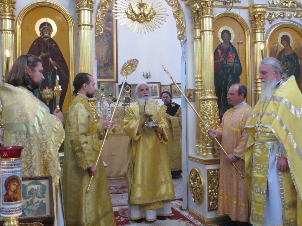 Архиерейское богослужение в Вознесенском соборе г. Ржева