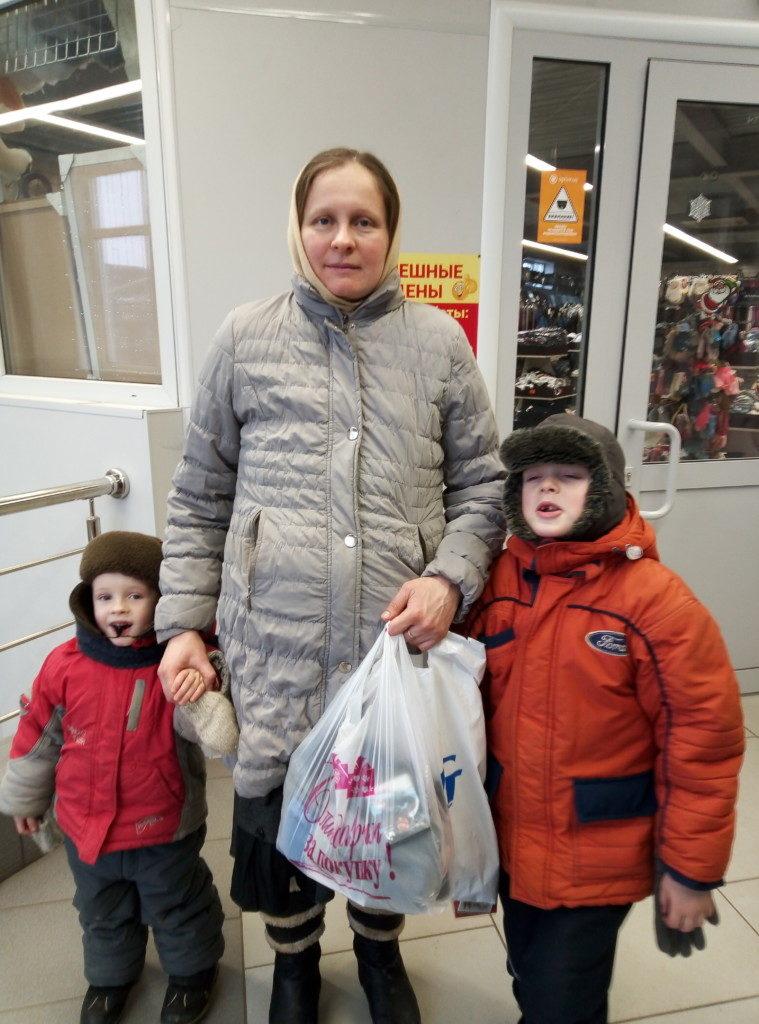 Помощь многодетной семье Османовых